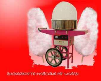 Zuckerwattemaschine mit Unterwagen