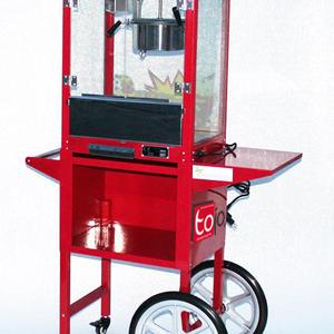 Popcornmaschine mit Unterwagen
