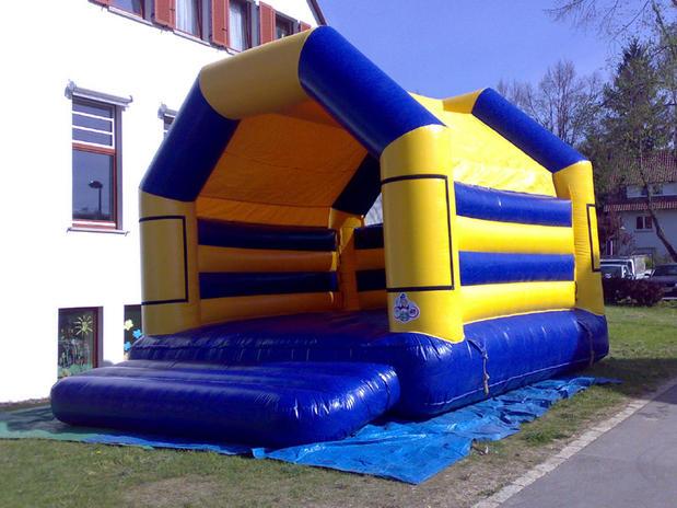 Hüpfburg Promotion (Blau  Gelb)