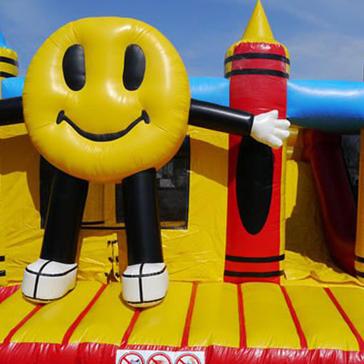 Hüpfburg Smiley mit Rutsche