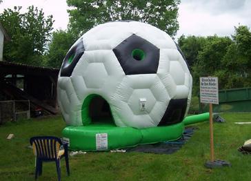 Fußball-Hüpfburg
